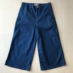 Zara Woman Stretch Denim Culottes Jeans J103